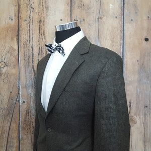 Jos A Bank Sport Coat Mens 42R Silk Blend Olive